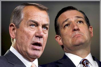 John Boehner, Ted Cruz