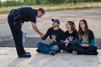 Fracking Protest Arrest