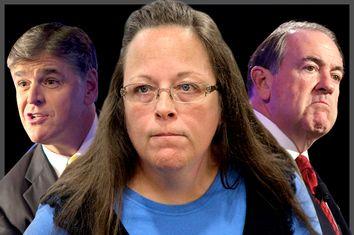 Sean Hannity, Kim Davis, Mike Huckabee