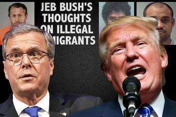 Jeb Bush, Donald Trump