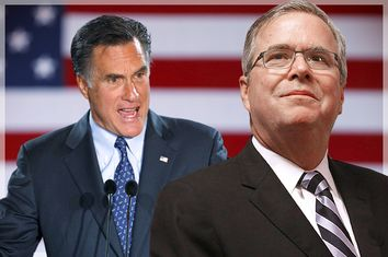 Mitt Romney, Jeb Bush