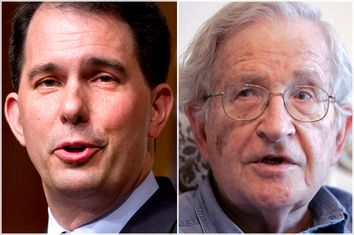 Scott Walker, Noam Chomsky