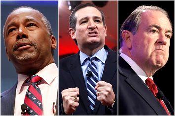 Ben Carson, Ted Cruz, Mike Huckabee