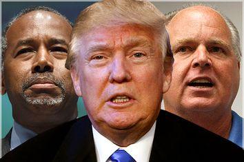 Ben Carson, Donald Trump, Rush Limbaugh