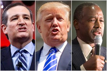 Ted Cruz, Donald Trump, Ben Carson