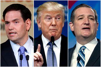 Marco Rubio, Donald Trump, Ted Cruz
