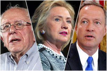 Bernie Sander, Hillary Clinton, Martin O'Malley