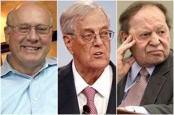 Frank Vandersloot, David Koch, Sheldon Adelson