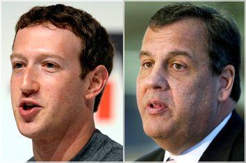 Mark Zuckerberg, Chris Christie