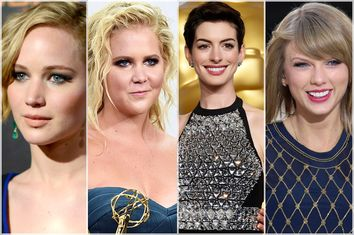 Jennifer Lawrence, Amy Schumer, Anne Hathaway, Taylor Swift