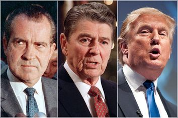 Richard Nixon, Ronald Reagan, Donald Trump