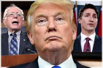 Bernie Sanders, Donald Trump, Justin Trudeau