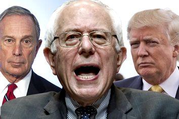 Michael Bloomberg, Bernie Sanders, Donald Trump