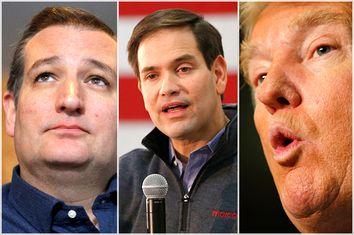 Ted Cruz, Marco Rubio, Donald Trump