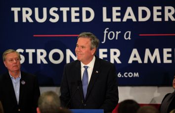 Republican U.S. presidential candidate Jeb Bush announces that he is suspending his presidential campaign in Columbia
