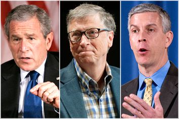 George W. Bush, Bill Gates, Arne Duncan