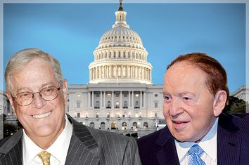 David Koch, Sheldon Adelson