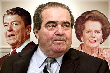 Ronald Reagan, Antonin Scalia, Margaret Thatcher