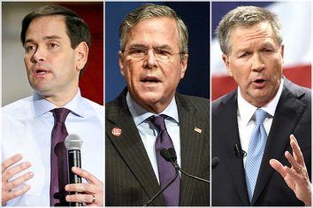 Marco Rubio, Jeb Bush, John Kasich