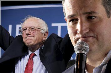 Bernie Sanders, Ted Cruz