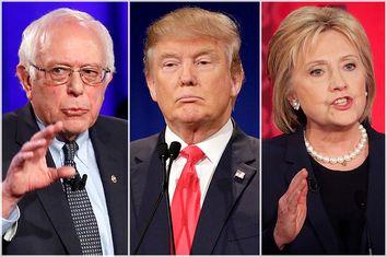 Bernie Sanders, Donald Trump, Hillary Clinton