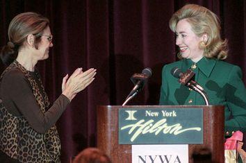 Gloria Steinem, Hillary Clinton