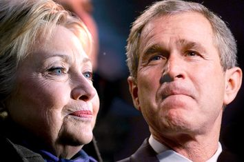 Hillary Clinton, George W. Bush