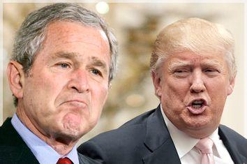 George W. Bush, Donald Trump