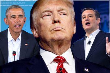 Barack Obama, Donald Trump, Ted Cruz
