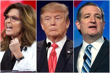 Sarah Palin, Donald Trump, Ted Cruz