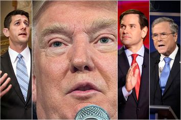 Paul Ryan, Donald Trump. Marco Rubio, Jeb Bush