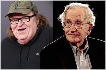 Michael Moore, Noam Chomsky