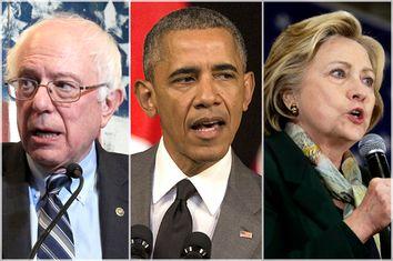 Bernie Sanders, Barack Obama, Hillary Clinton