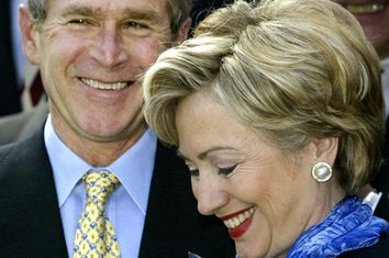 George W. Bush, Hillary Clinton