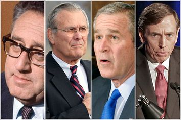 Henry Kissinger, Donald Rumsfeld, George W. Bush, David Petraeus