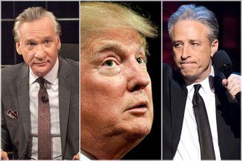 Bill Maher, Donald Trump, Jon Stewart