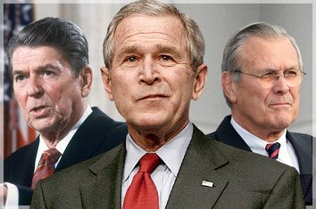 Ronald Reagan, George W. Bush, Donald Rumsfeld