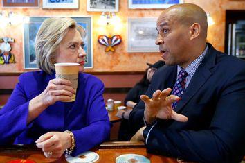 Hillary Clinton, Cory Booker