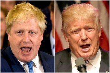 Boris Johnson, Donald Trump