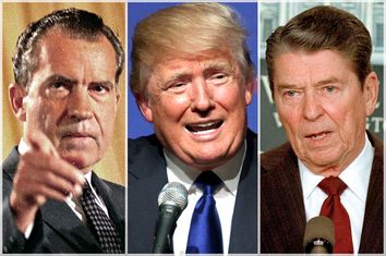 Richard Nixon, Donald Trump, Ronald Reagan