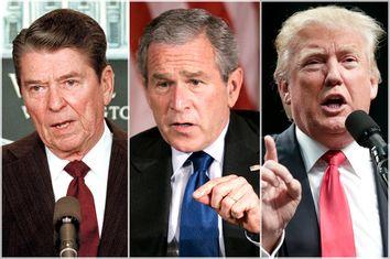 Ronald Reagan, George W. Bush, Donald Trump