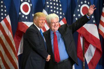 Donald Trump, Newt Gingrich