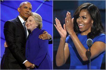 Barack Obama, Hillary Clinton; MIchelle Obama