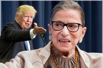 Donald Trump, Ruth Bader Ginsburg