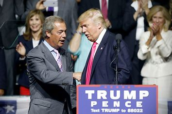 Nigel Farage, Donald Trump