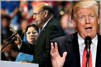Ghazala and Khizr Khan; Donald Trump