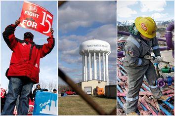 Minimum Wage; Flint; Fracking