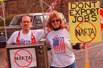 NAFTA Protesters