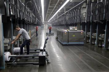 Robots Take Factory Jobs