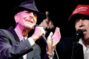 Leonard Cohen and Donald Trump
